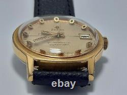 Rare Zodiac Guardsman Automatic Vintage Men's Ltd Date Swiss Made Gold Plated