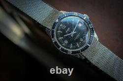 Rare vintage Nasia skin diver submariner military style swiss made watch