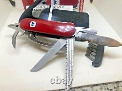 Rare vintage wenger pocketgrip pocket grip swiss knife multitool different logo