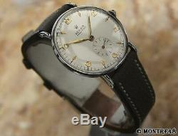 Rolex 3977 Rare Swiss Mens 34mm Stainless St Manual 1960 Vintage Watch JL260