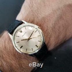 Rolex Vintage 1972 Automatic Rare 35mm 14k Gold Filled Mens Swiss Watch LV239