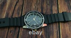 SICURA SUBMARINE 400 DIVER TRITIUM EB 8021N VINTAGE 70's RARE 23J SWISS WATCH