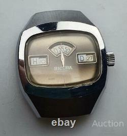 Sicura Jump Hour Rare Vintage Original Swiss Wrist Watch