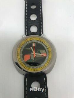 Sunning, Vintage Rare Retro Swiss 1970s Sorna Mechanical Bullhead Chronograph