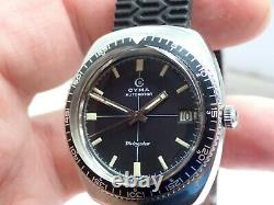 Super Rare CYMA Swiss'Divingstar' 20ATM Vintage Diving Watch, Cyma Cal. R. 485.2