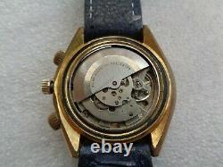 Super Vtg Rare Swiss Made World Time Arabic Daleel Islamic Automatic Men's Watch
