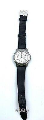 Swiss Army Officers Watch 25 Jewel Automatic Day Date Vintage Rare Working