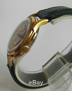 Swiss Chronograph Vintage Golden Hyaly Hand Winding Rare&Unique Men's Watch 37mm