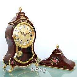 Swiss ELUXA Vintage Wall Mantel Clock + Console Neuchatel VERY RARE! XXL! Chime