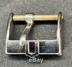 Top rare Vintage Universal Geneve depose polerouter swiss buckle 16mm 100% steel