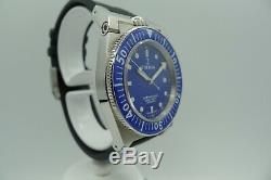 Triton Subphotique Vintage Swiss Made Diver 500m New Rare Blue Dial 40mm Zrc