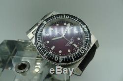 Triton Subphotique Vintage Swiss Made Diver 500m New Rare Bordeaux Dial 40mm Zrc