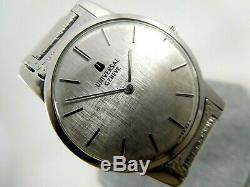 UNIVERSAL GENEVE Rare Silver Dial Ref. 842101 Cal. 1-42 Swiss 31mm Vintage Watch