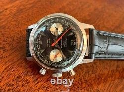 Ultra Rare Retro Vintage Monte Ancre 1960/70s reverse Swiss Valjoux 7733 Watch