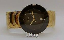 Used Vintage Rare Rado Quartz Date (eta 955) Made In Swiss Men's Wristwatch
