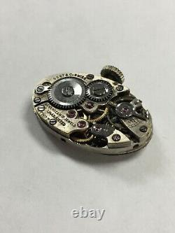 VINTAGE Art Deco VOGT & CO. Diamond/Sapphire 14K/Platinum 17j SWISS Watch RARE
