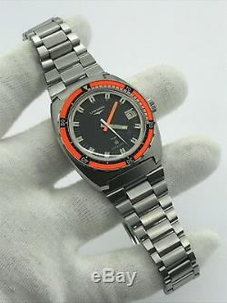 VINTAGE LONGINES ULTRONIC 6312 DIVER 8484-1 MENS 41x45mm SWISS. VERY RARE MODEL