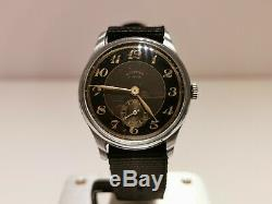 VINTAGE RARE WW2 MILITARY STYLE SWISS MEN'S 35mm WATCH ORFINA ANCRE 15 J