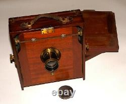 Very Rare Mahogany Vintage Large Format Camera Mostly By Swiss E. Suter Basel