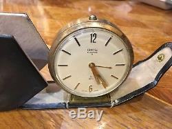 Very Rare Oris 1950s Vintage Clock 7 Jewels 8 Days Swiss Made Working Condition