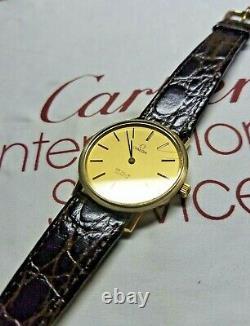 Very Rare Vintage (70's) Omega Deville Swiss Quartz Cal 1330 10k GF Case