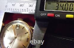 Vetta Rare Vintage'60 Automatic Date Gold Rolled/s. Steel Back Swiss Made