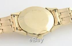 Vintage 14K Longines Watch Gold 29mm Seconds Silver Dial Swiss RARE AS-IS Read