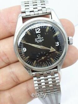 Vintage 1958 Omega Ranchero 2990-1 Cal. 267 Black Dial Swiss Man's Watch Rare