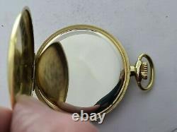 Vintage 1965 Gradus Swiss 17J Gold Plated Pocket Watch Original Box VGC Rare