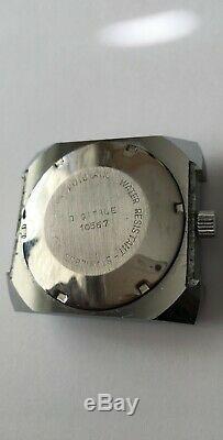 Vintage Alpha Automatic Jump HOUR watch 17 Jewels Digitale 10567 RARE Swiss