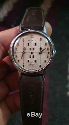 Vintage Ardath Wisdom Dual -Time Mechanical True Rare Man's Swiss Wrist Watch