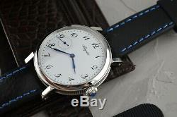 Vintage Breguet Classic Watch Swiss Mechanical Winding Rare Mens Silver 3210BA