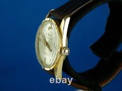 Vintage Bulova International 17j Swiss 18k Gp Mens Watch Serviced Rare C1960