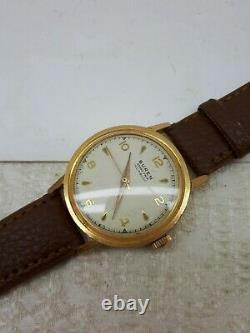 Vintage Buren Grand Prix Wrist Hand Wind Wrist Watch Gp Mens Rare Swiss Made