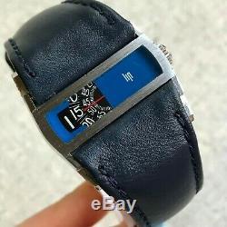 Vintage Directime LIP Baschmakoff Jump Hour RARE Swiss Mechanical Men Watch Blue
