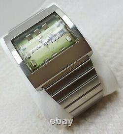 Vintage Enicar Ddf 250 Automatic Day Date Swiss Mens Wrist Watch Rare Square