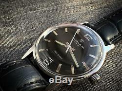 Vintage Favre Leuba Gents Manual Wind Watch, Rare, Swiss Black DIAL