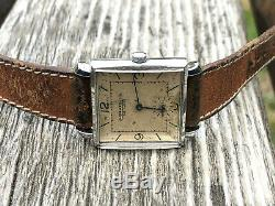 Vintage Jaeger LeCoultre cal. 417 B Swiss rare watch 40's square