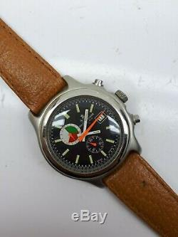 Vintage Meister Anker Chronograph Swiss Mens Rare Dial Wrist Watch Date