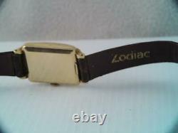 Vintage Mens Rare Solid 14k Gold Swiss Movado Wristwatch 17j Mechanical Running