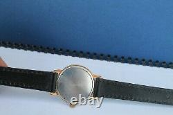 Vintage Old rare Made Swiss Wristwatch Man ZENITH Gold Plated Cal. 2532