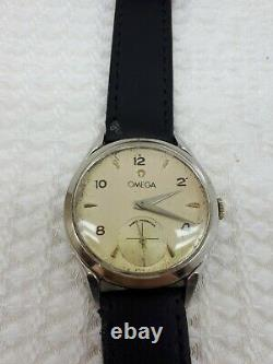 Vintage Omega Cal. 268 Sub Second Swiss Made Mens Wrist Watch Rare Swiss
