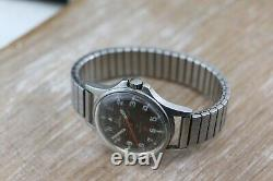 Vintage Omega Geneve Admiralty Brown Dial Cal 601 Swiss Mens Watch RARE