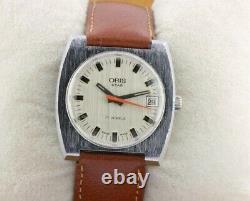 Vintage Oris Star 17j Winding Swiss Men's Working Wrist Watch Rare A0702