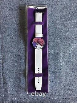 Vintage Peter Max Swiss Watch 1986 Signed Rare Pink Hair Pop Art Culture Cool