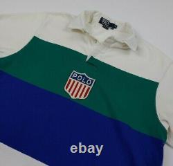 Vintage Polo Ralph Lauren Shirt K Swiss Stadium Rare USA Made Sport 1992 92 RL
