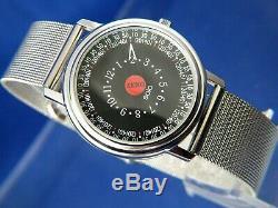Vintage RARE 1990s Zeno Solo SOS Quartz One Hand Watch Mystery Dial SWISS