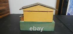 Vintage REUGE Music Box Swiss German Chalet Wooden House Large Rare Excellent