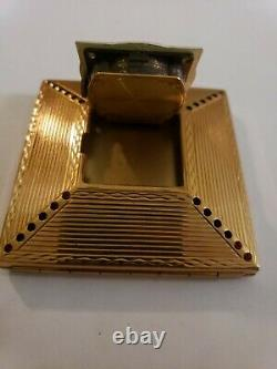 Vintage Rare Amere Switzerland Makeup Compact And Swiss Watch Clock Works