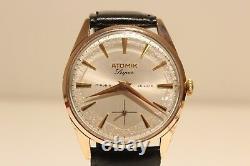 Vintage Rare Beautiful Sub Second Men's Swiss Watch Atomik De Luxe/as 1130